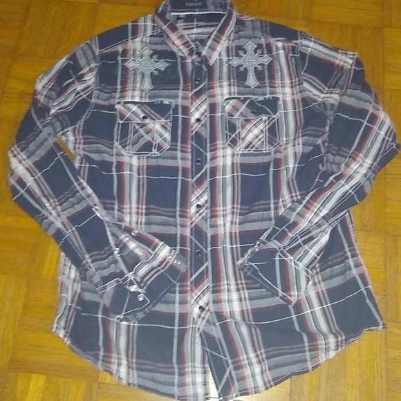 Black Other - Mens button down shirt size XL